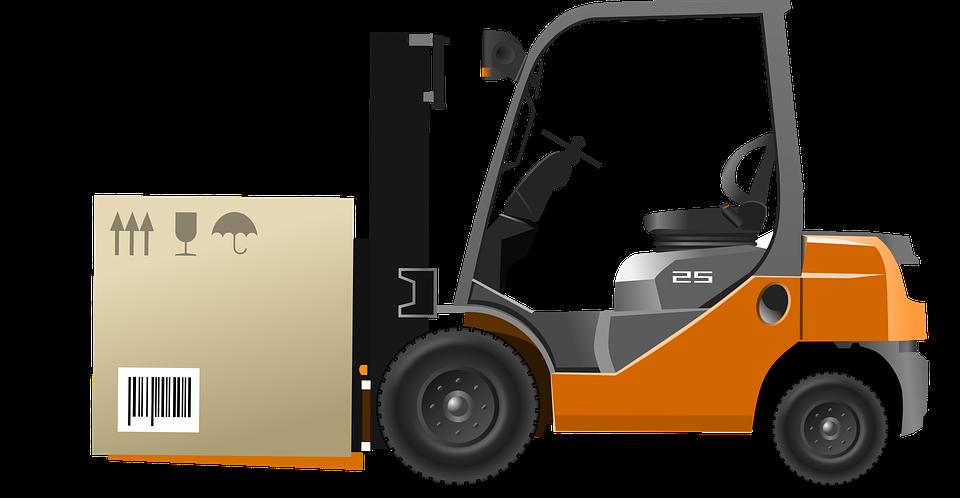 Forklift Moving